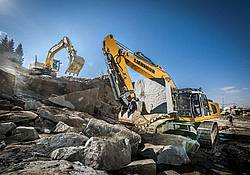 Abbau von Fürstensteiner Granit im Peterbruch