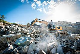 Granit-Bruchsteine