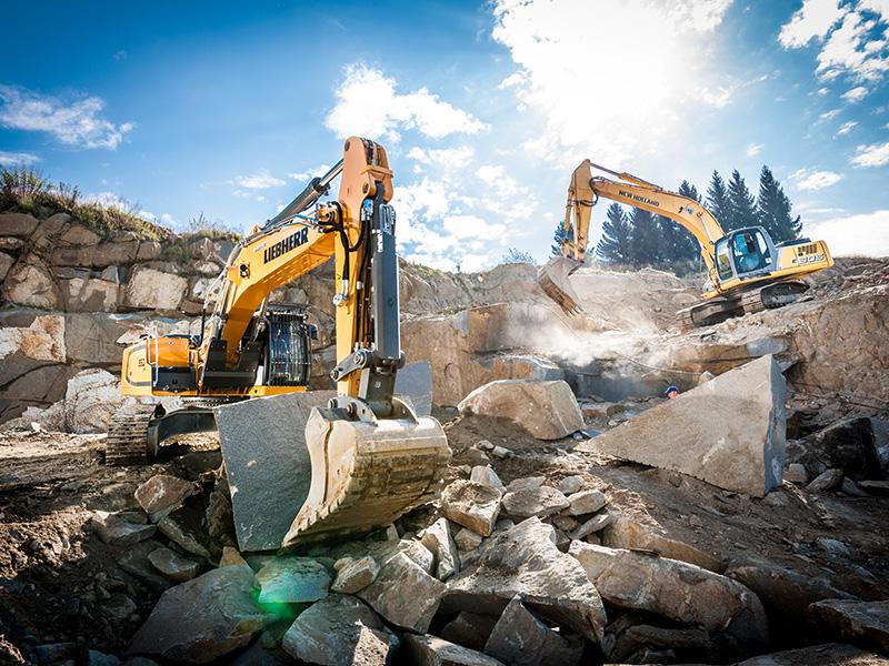 VGB Natursteine – Maschinen bei der Arbeit