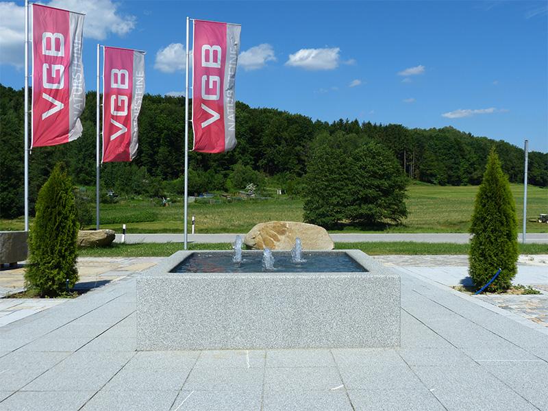 VGB Natursteine Ausstellungsfläche
